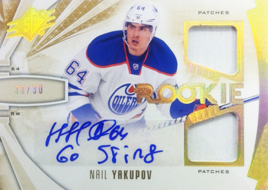 2013-14-NHL-SPX-Upper-in-inpogn-leookie-jersey-eNail-yakupov-inscription